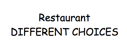 Restaurant DIFFERENT CHOICES